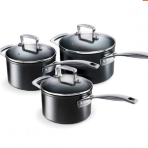Le Creuset Toughened non stick 3 piece saucepan set