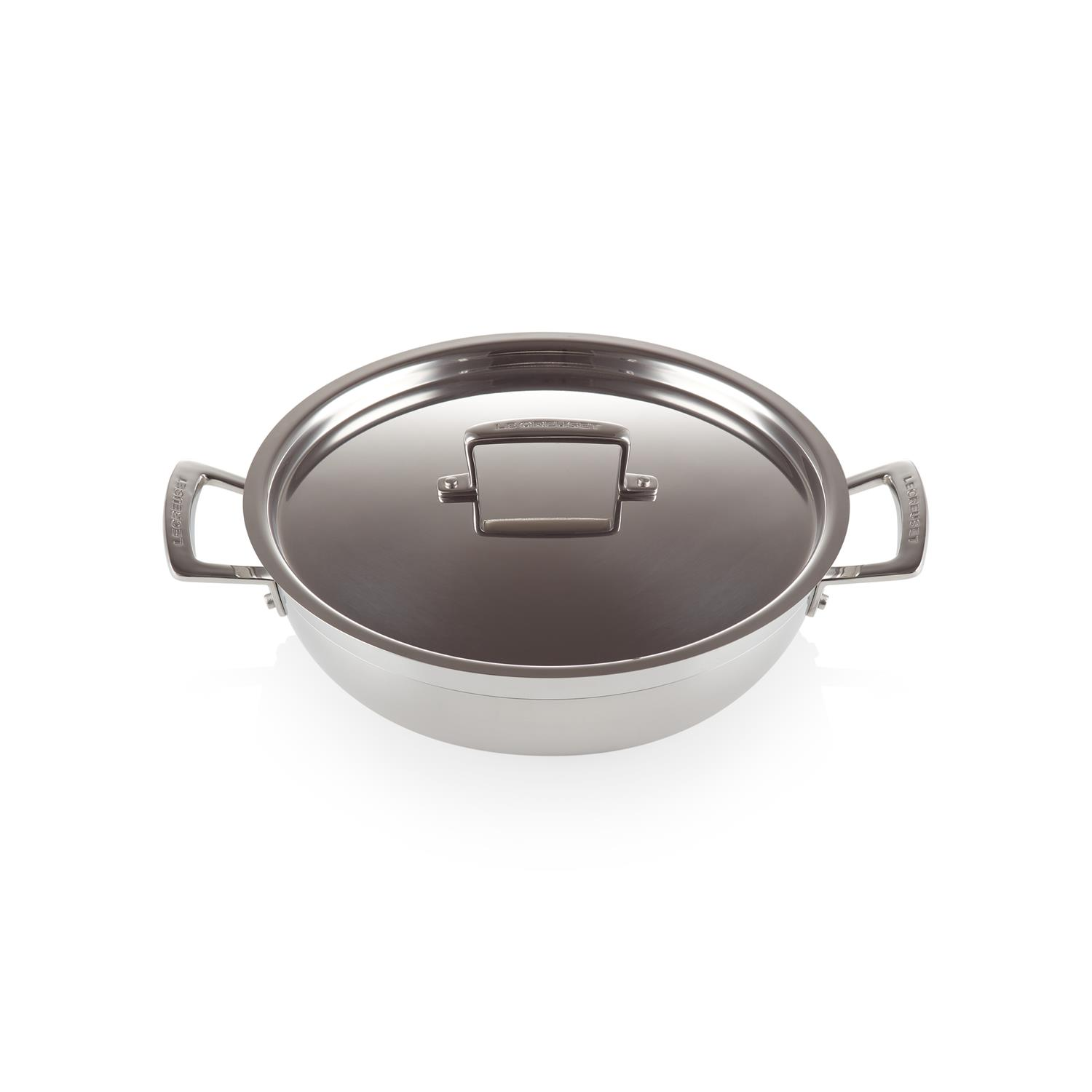 Home & Kitchen LE CREUSET 3-Ply Shallow Casserole with Lid 26 cm ...