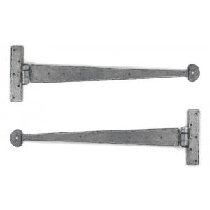 From The Anvil 33653 Pewter 15'' T Hinge (pair)