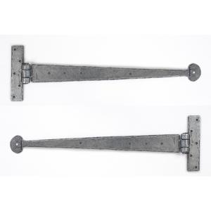 From The Anvil 33656 Pewter 18'' T Hinge (pair)
