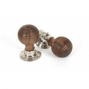 From The Anvil 83635 Rosewood Mortice/Rim Beehive Knob Set - Polished Nickel Roses