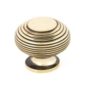 From The Anvil 83866 Aged Brass Beehive Cabinet Knob - Large