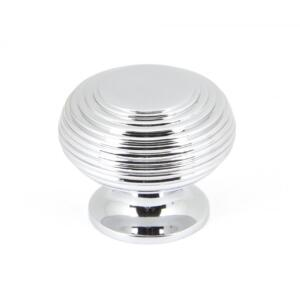 From The Anvil 90336 Polished Chrome Beehive Cabinet Knob - Large